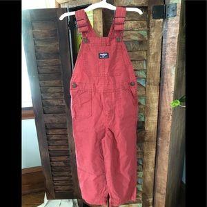 Oshkosh Red Cotton Overalls 5T